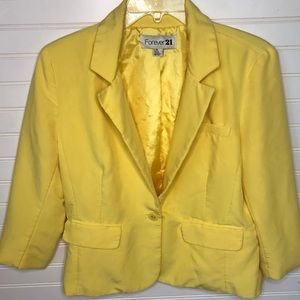 Women's blazer forever 21 large yellow